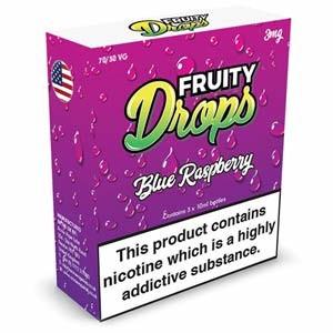 BLUE RASPBERRY ELIQUID BY FRUITY DROPS 3 x 10ml