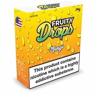 MANGO ELIQUID BY FRUITY DROPS 3 x 10ml