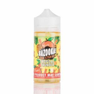 Tropical Thunder by Bazooka – Pineapple Peach Sour Straws 100mL