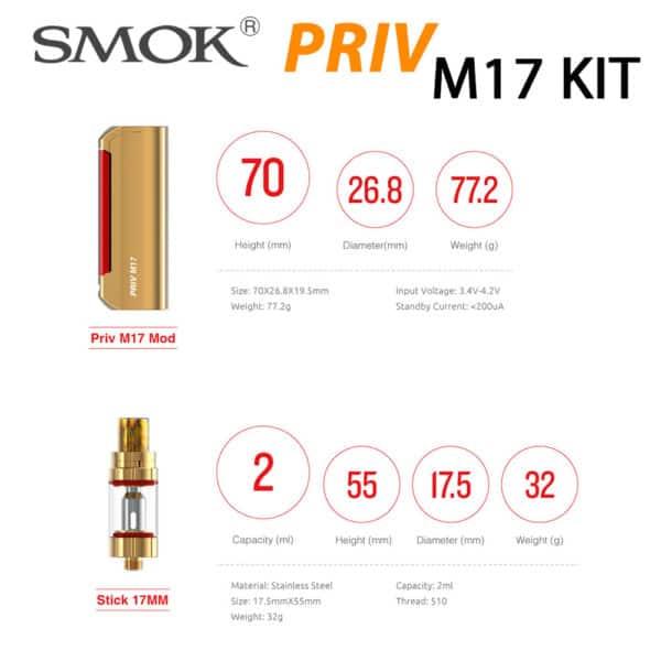 SMOK PRIV M17 60W STARTER KIT