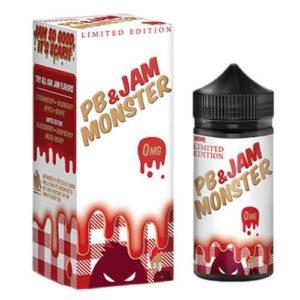 Jam Monster PB & Jam Strawberry Limited Edition E-Liquid