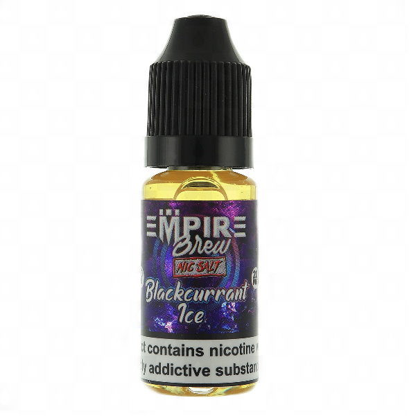 BLACKCURRANT ICE NIC SALT BY EMPIRE BREW E LIQUID 10ML