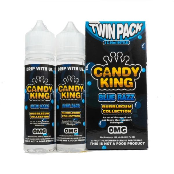 CANDY KING TWIN PACK BUBBLEGUM COLLECTION BLUE RAZZ