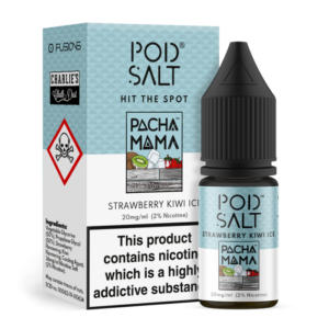 Pod Salt Charlies Chalk Dust Pacha Mama Strawberry Kiwi Ice Nic Salt E-Liquid