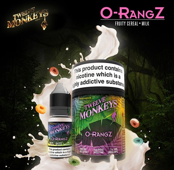12 Monkeys - O-Rangz E-liquid 3 X 10ML