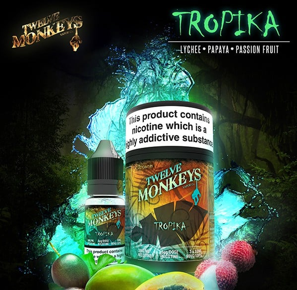 12 Monkeys - Tropika E-liquid 3 x 10ml