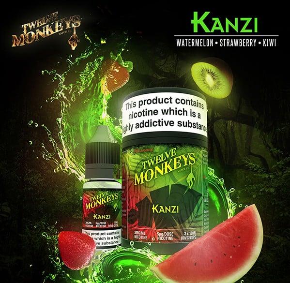 12 Monkeys - Kanzi E-liquid 3 X 10ML