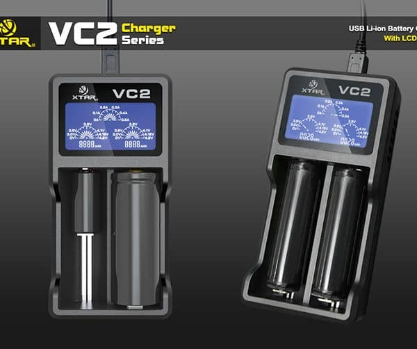Xtar VC2 Dual Bay Battery Charger & Tester 4
