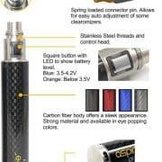 Aspire CF VV 1600 mAh Battery 1