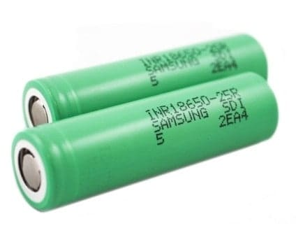 Samsung INR18650-25R 2500mAh Battery 2