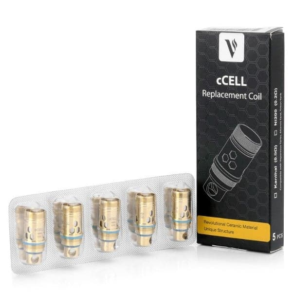 VAPORESSO CCELL NI200 REPLACEMENT COILS - 0.2 OHM (5 PACK)