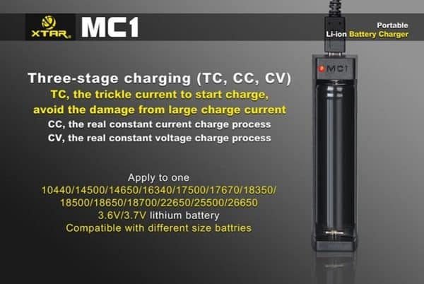 Xtar MC1 Single Bay Lithium-ion Battery Charger 4
