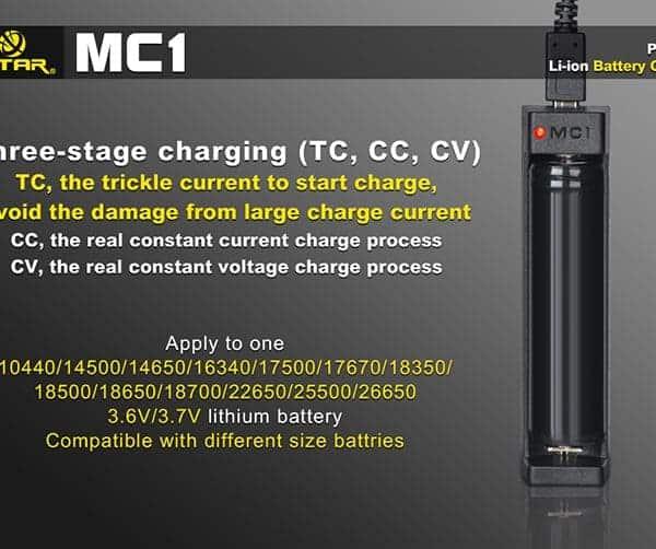 Xtar MC1 Single Bay Lithium-ion Battery Charger 4