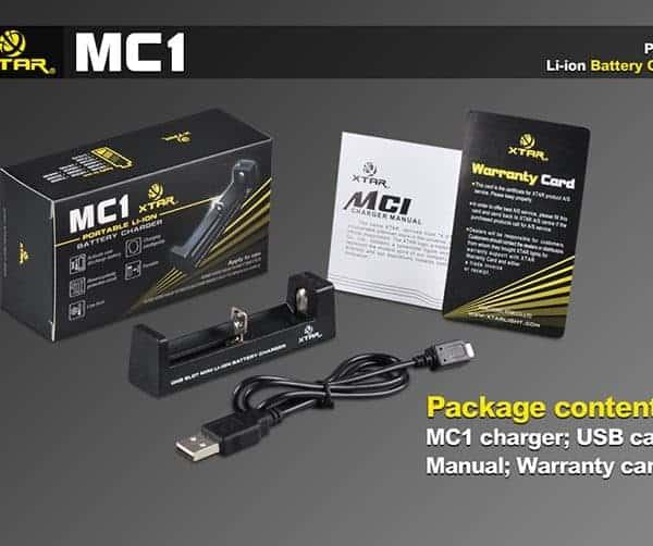 Xtar MC1 Single Bay Lithium-ion Battery Charger 1