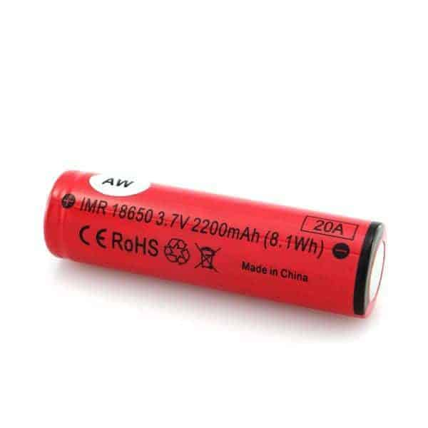 AW 18650 IMR 2200mAh Battery 2