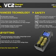 Xtar VC2 Dual Bay Battery Charger & Tester 5