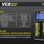 Xtar VC2 Dual Bay Battery Charger & Tester 6