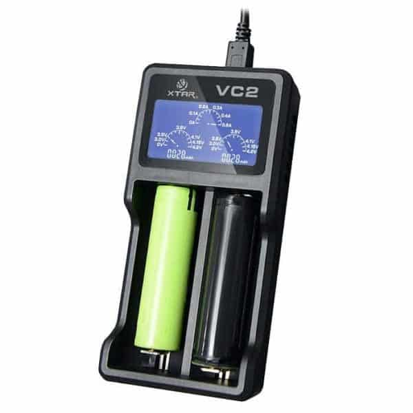 Xtar VC2 Dual Bay Battery Charger & Tester 3