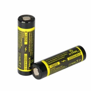 2 x Xtar XT-VTC4 18650 High Drain 2200mAh Unprotected Batteries