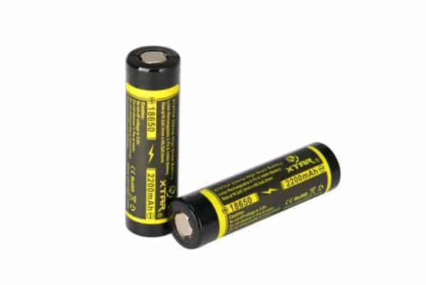 2 x Xtar XT-VTC4 18650 High Drain 2200mAh Unprotected Batteries 1