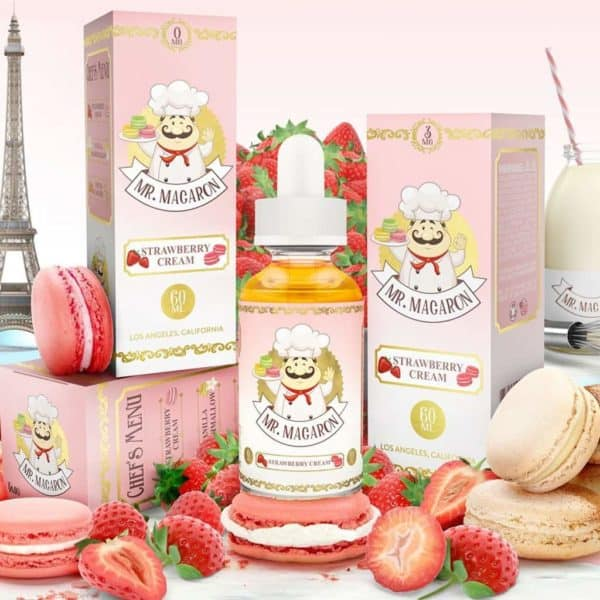 Mr. Macaron Strawberry Cream