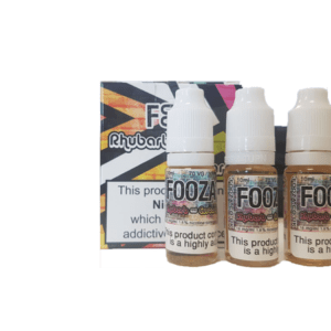Fooza - Rhubarb & Custard 3 X 10ml