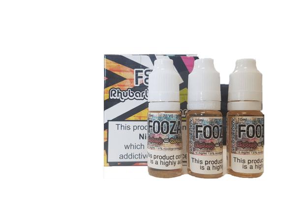 Fooza - Rhubarb & Custard 3 X 10ml