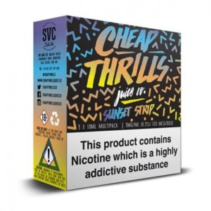 Cheap Thrills Sunset Strip TPD Compliant 3 X 10ml