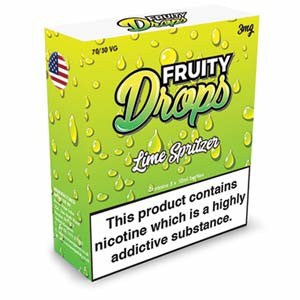 LIME SPRITZ ELIQUID BY FRUITY DROPS 3 x 10ml
