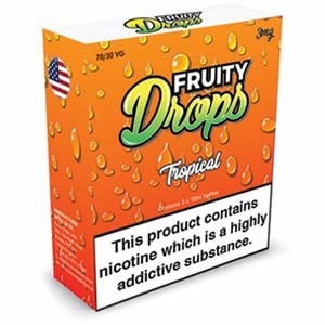 TROPICAL ELIQUID BY FRUITY DROPS 3 x 10ml