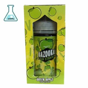 BAZOOKA – SOUR STRAWS E-LIQUID – GREEN APPLE 200ml