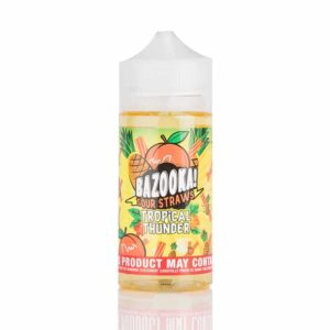 Tropical Thunder by Bazooka - Pineapple Peach Sour Straws 100mL