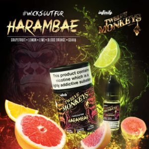 12 Monkeys - Harambae E-liquid 3 X 10ML
