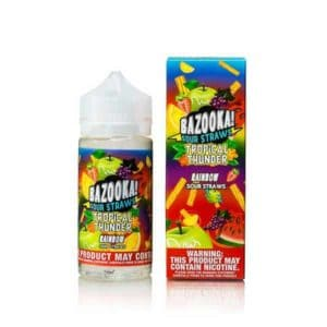 Tropical Thunder by Bazooka - Rainbow Sour Straws 100mL
