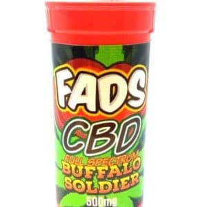 FADS CBD E LIQUID FULL SPECTRUM BUFFALO SOLDIER 500MG